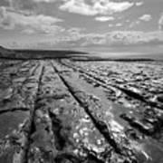 Burren Limestone Landscape In Ireland Art Print