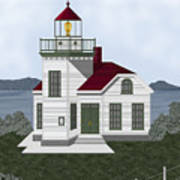 Burrows Island Lighthouse Art Print