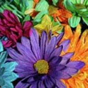 Bursting Colors Art Print