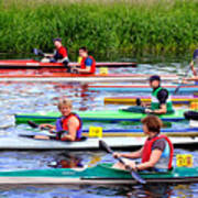 Burton Canoe Race At The Start Art Print