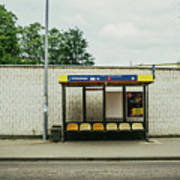 Bus Stop In Poland Art Print