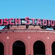 Busch Stadium Ball Park Art Print