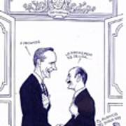 Bush And Salinas Art Print