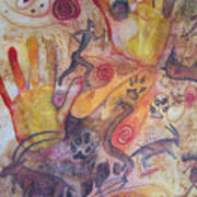 Bushman Comes Alive Art Print