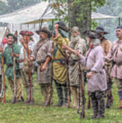 Bushy Run Milita Camp Roll Call Art Print by Randy Steele