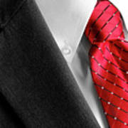 Business Suit White Shirt Red Tie Formal Wear Fashion Art Print