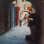 Buskers, Kilkenny Art Print