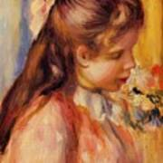 Bust Of A Young Girl Art Print