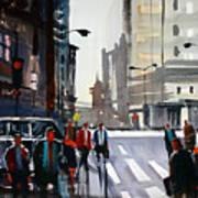 Busy City - Chicago Art Print
