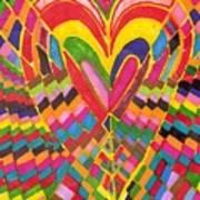Busy Heart Art Print