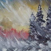 But The Weather Man Said.... Art Print