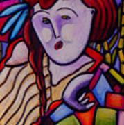 Butah Dancer Wearing Quilot Art Print