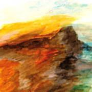 Butte At Sunset Art Print