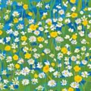 Buttercups And Daisies Art Print