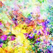 Butterflies And Flowers Iv Art Print