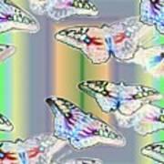 Butterflies In The Vortex Art Print