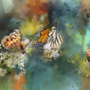 Butterflies On A Spring Day Art Print