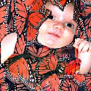 Butterfly Baby Art Print