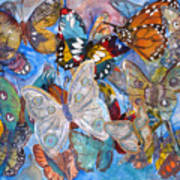 Butterfly Collage Art Print