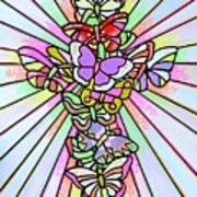 Butterfly Cross Art Print