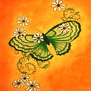 Butterfly Doodle Art Print