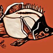Butterfly Fish In Watercolor Art Print