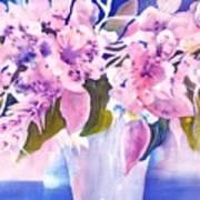 Pink Butterfly Flowers Art Print