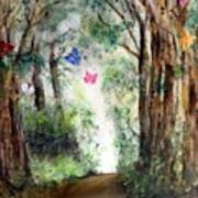Butterfly Forest Art Print