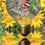 Butterfly In A Bulb II Art Print by Shane Bechler
