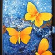 Butterfly In Blue 1 Art Print