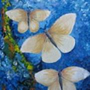 Butterfly In Blue 4 Art Print