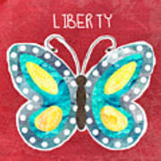 Butterfly Liberty Art Print