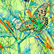 Butterfly Mosiac Art Print