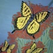 Butterfly Picnic Art Print
