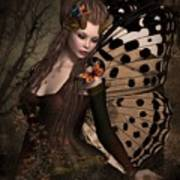 Butterfly Princess Of The Forest 2 Art Print