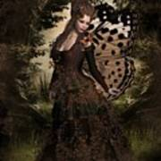 Butterfly Princess Of The Forest Art Print