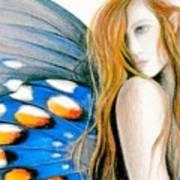 Butterfly Rush Take1 Art Print by Patricia Ann Dees
