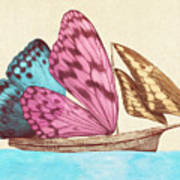 Butterfly Ship Art Print