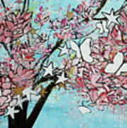 Butterfly Star Magnolia Soulangeana 201825 Art Print