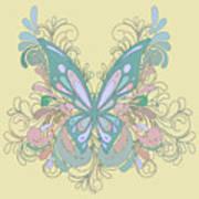 Butterfly Swirls Art Print