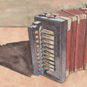 Button Accordion Art Print