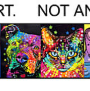 Buy Art Not Animals Print by Dean Russo