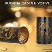 Buy Attractive Buddha Candle Votive From Rustik Craft  Art Print