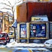 Buy Original Montreal Paintings Beauty's Winter Scenes For Sale Achetez Petits Formats Tableaux  Art Print