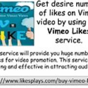 Buy Vimeo Likes Art Print