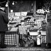 Buying Fruit Print by John Rizzuto