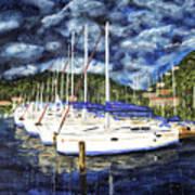 Bvi Sailboats Painting Art Print