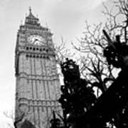 Bw Big Ben London 2 Art Print