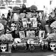 Bw Classic Car Trunk Decor Day Dead  Art Print