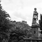 Bw Edinburgh Scotland  Art Print